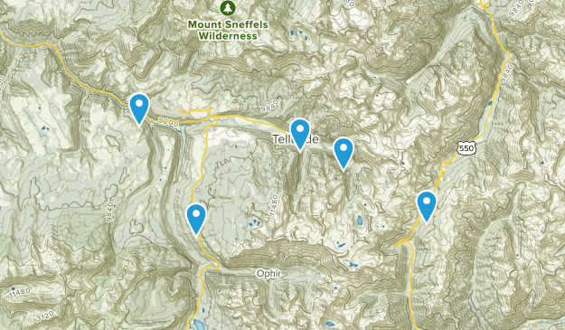 Telluride, Colorado Off Road Driving Map