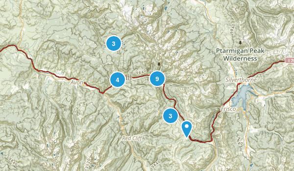 Vail, Colorado Hiking Map