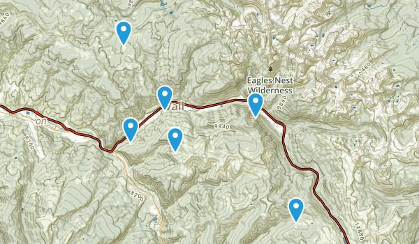 Vail, Colorado Mountain Biking Map