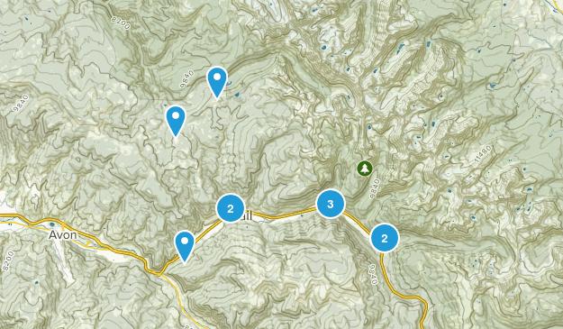 Vail, Colorado Trail Running Map