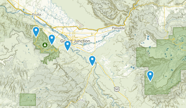 Whitewater, Colorado Hiking Map
