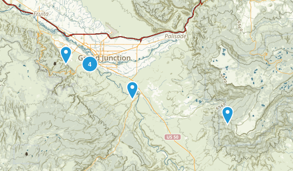 Whitewater, Colorado Nature Trips Map