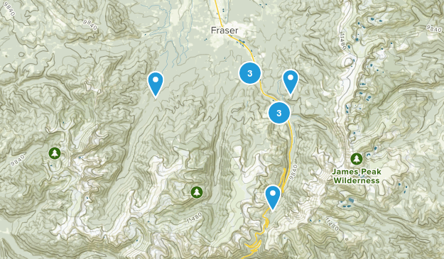 Winter Park, Colorado Birding Map
