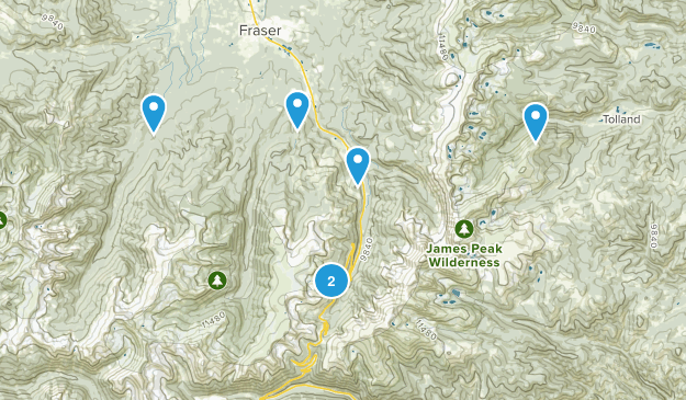 Winter Park, Colorado Cross Country Skiing Map
