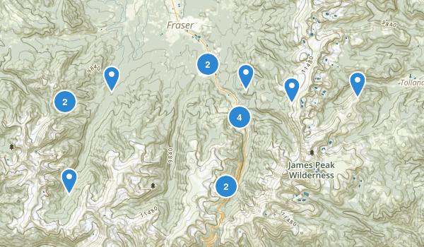 Winter Park, Colorado Hiking Map