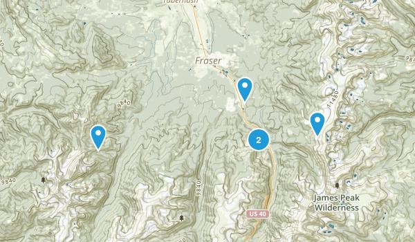Winter Park, Colorado Mountain Biking Map