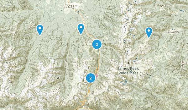 Winter Park, Colorado Snowshoeing Map