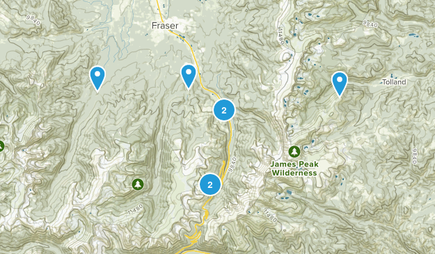 Winter Park, Colorado Snowshoeing Map