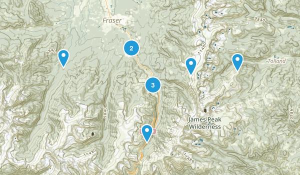 Winter Park, Colorado Trail Running Map