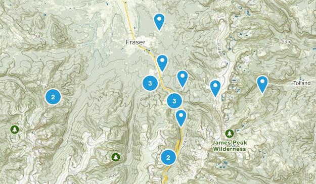Winter Park, Colorado Views Map