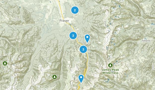 Winter Park, Colorado Walking Map