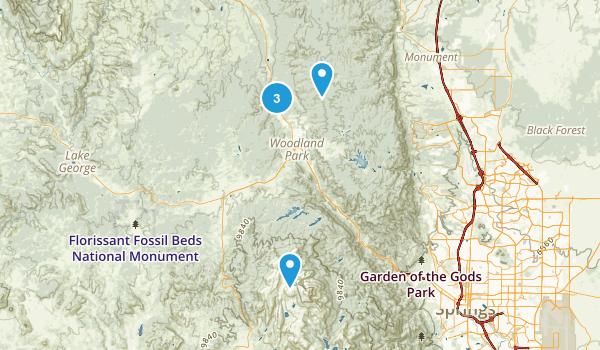 Woodland Park, Colorado Dog Friendly Map
