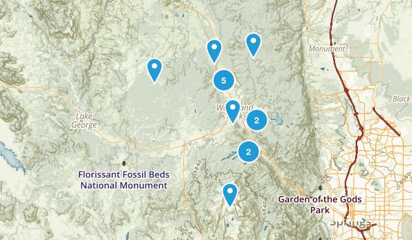 Woodland Park, Colorado Hiking Map