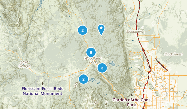 Woodland Park, Colorado Nature Trips Map