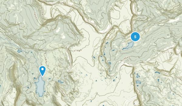 Yampa, Colorado Hiking Map