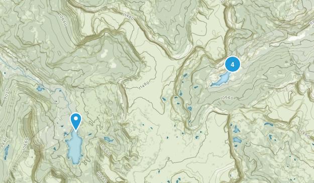 Yampa, Colorado Lake Map