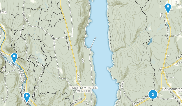 Barkhamsted, Connecticut Hiking Map