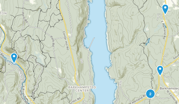 Barkhamsted, Connecticut Views Map