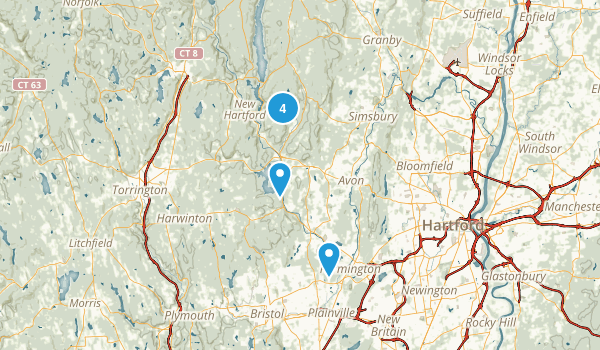 Canton, Connecticut Walking Map