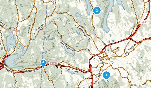 Danbury, Connecticut Trail Running Map