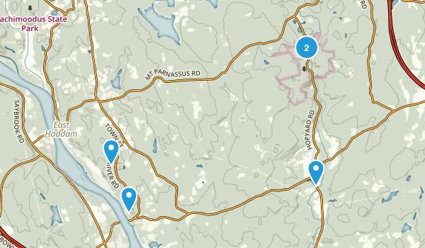 East Haddam, Connecticut Trail Running Map