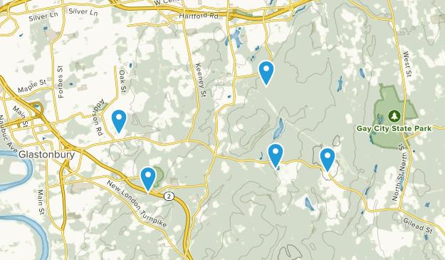 Glastonbury, Connecticut Trail Running Map