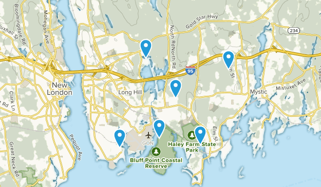 Groton, Connecticut Hiking Map