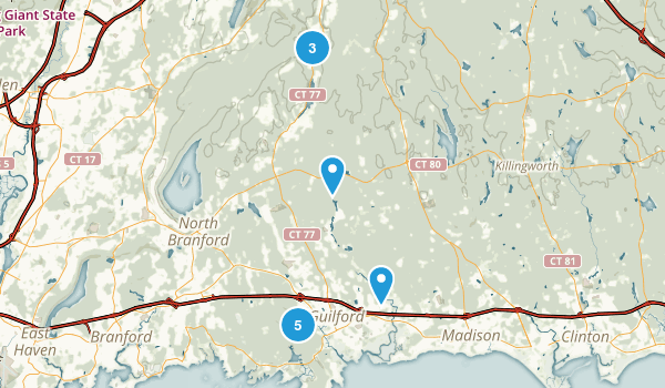 Guilford, Connecticut Trail Running Map