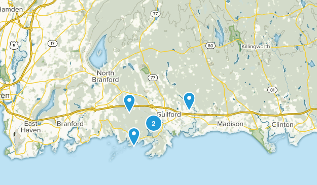 Guilford, Connecticut Wild Flowers Map