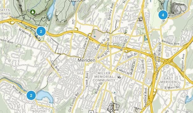 Meriden, Connecticut Kid Friendly Map