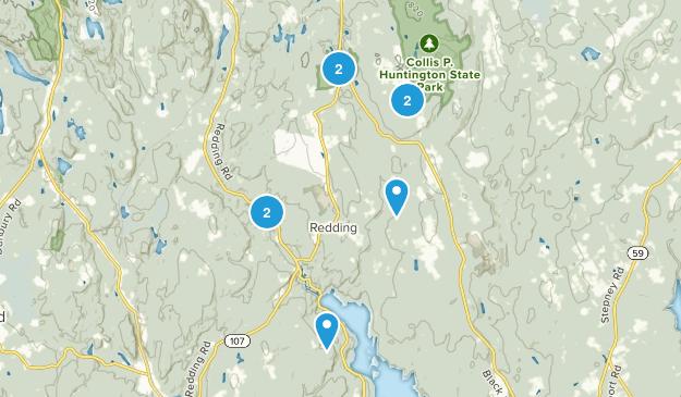 Redding, Connecticut Birding Map