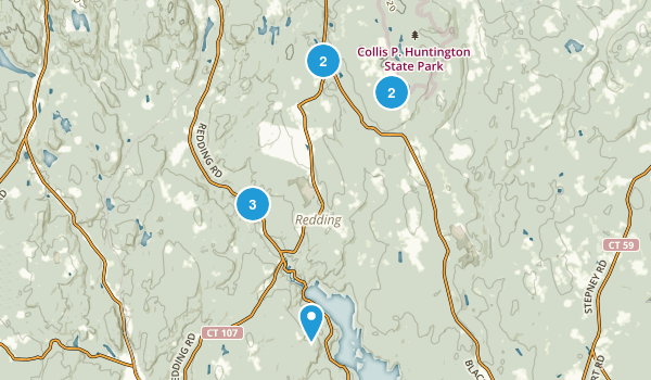 Redding, Connecticut Nature Trips Map