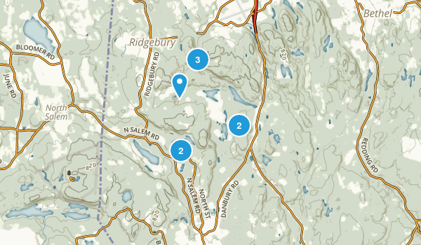 Ridgefield, Connecticut Forest Map