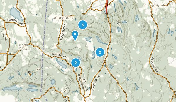 Ridgefield, Connecticut Trail Running Map