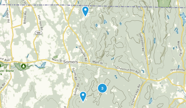 Somers, Connecticut Walking Map