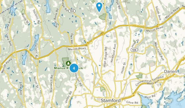 Stamford, Connecticut Bird Watching Map