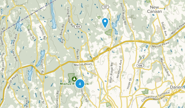 Stamford, Connecticut Nature Trips Map