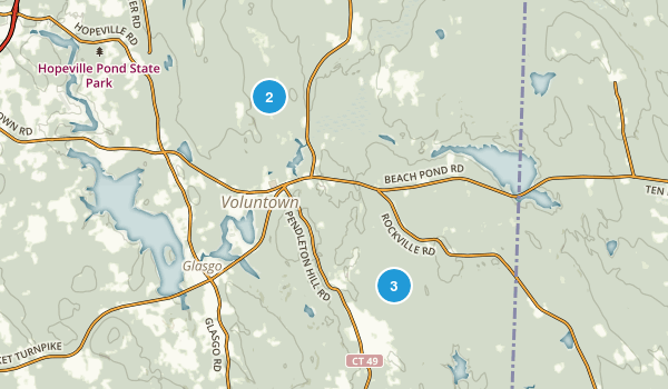 Voluntown, Connecticut Trail Running Map
