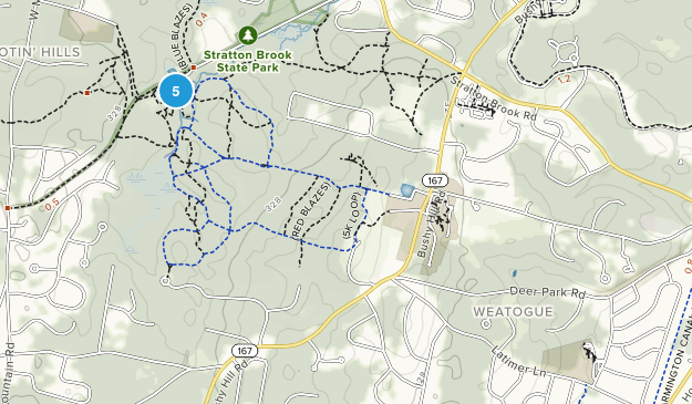 Weatogue, Connecticut Hiking Map