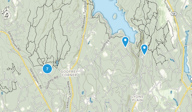 Weston, Connecticut Nature Trips Map