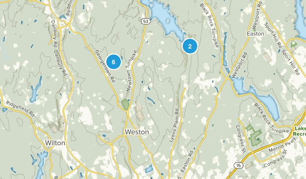 Weston, Connecticut Trail Running Map