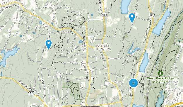 Woodbridge, Connecticut Hiking Map