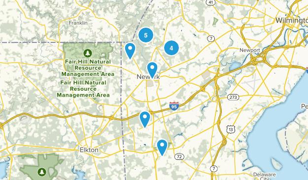 Newark, Delaware Hiking Map