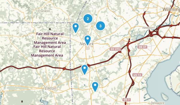 Newark, Delaware Mountain Biking Map
