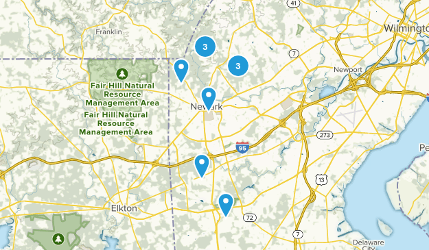 Newark, Delaware Mountain Biking Map