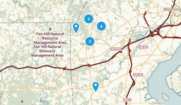 Newark, Delaware Walking Map