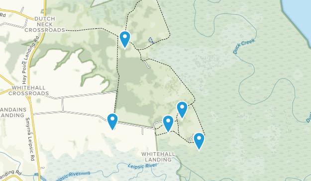 Smyrna, Delaware Dogs On Leash Map