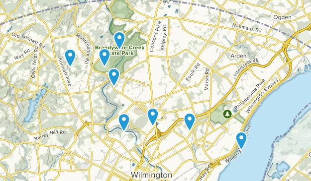 Wilmington, Delaware River Map