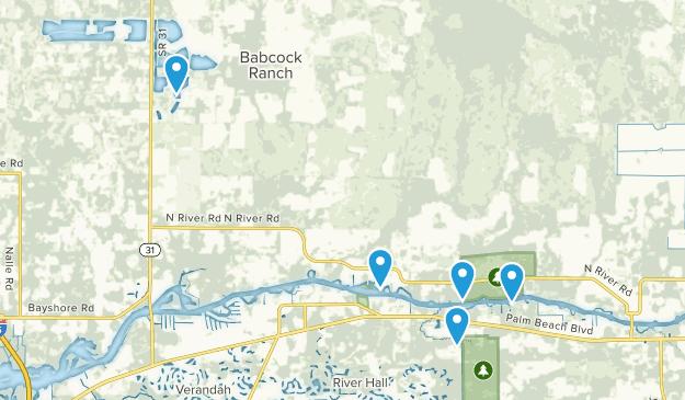Alva, Florida Nature Trips Map