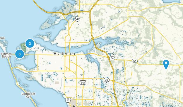 Bradenton, Florida Hiking Map